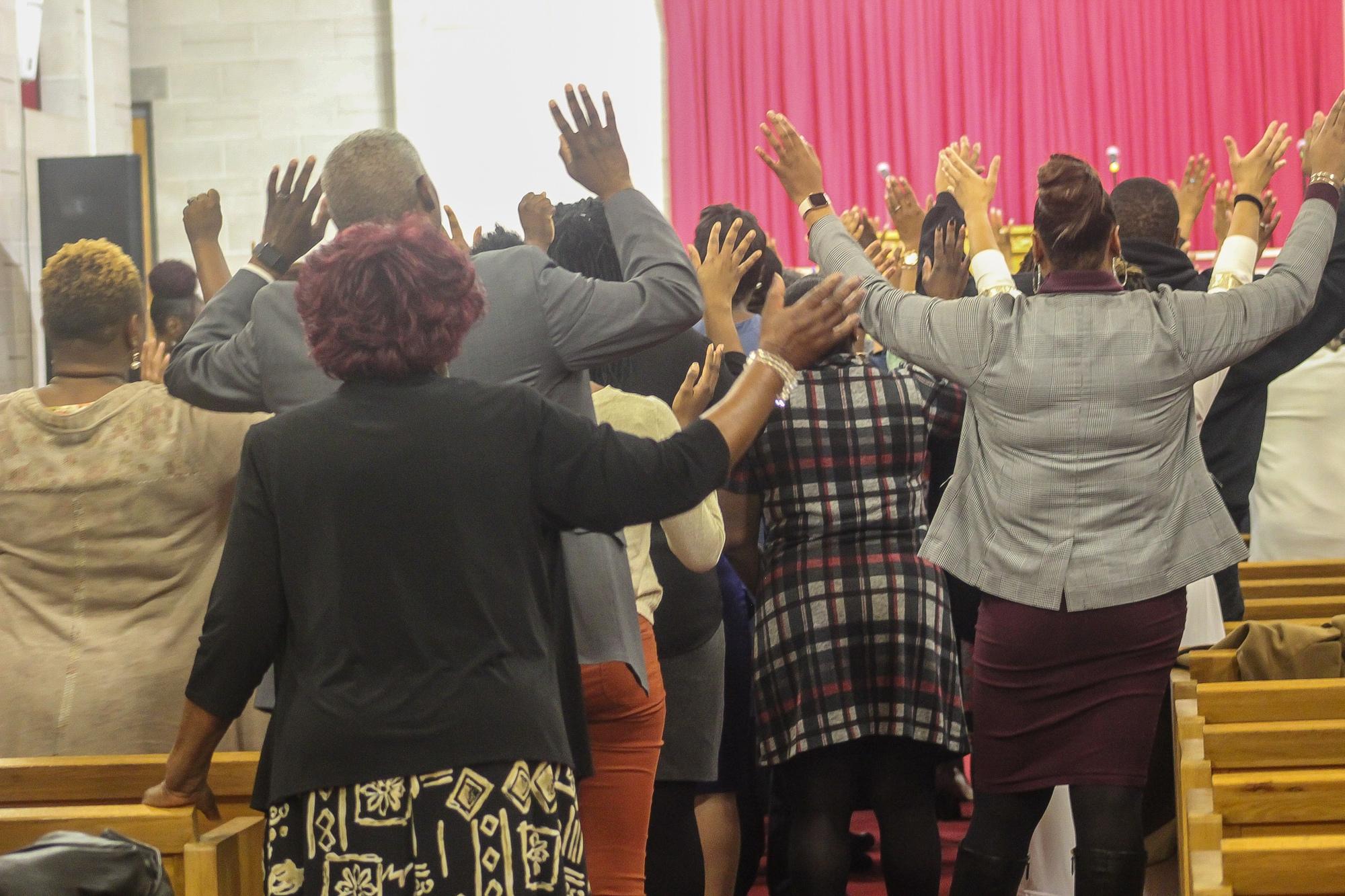 Hand up Praising